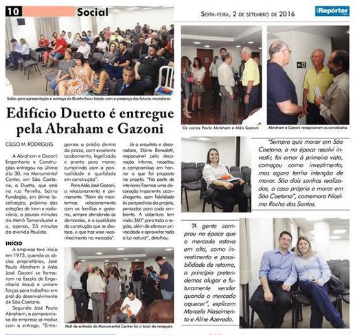 Entrega Ed. Duetto 31/08/2016